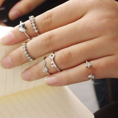 6PCS/Set Women's Trendy Knuckle Rings