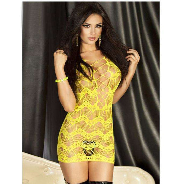 Assorted Netted Design Polyester Lingerie