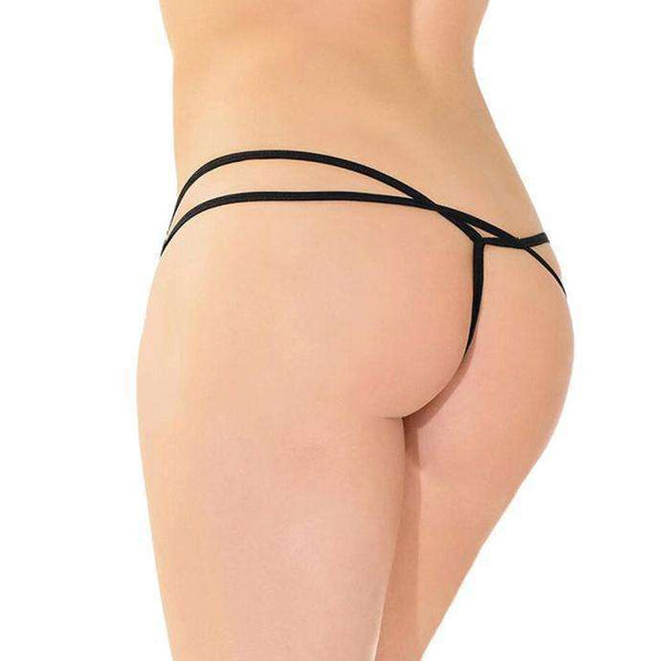Black Butterfly Design G-String