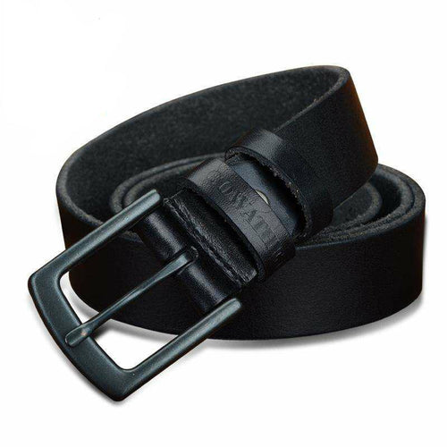 Men's High Grade Leather Belt w/ Pin Buckle