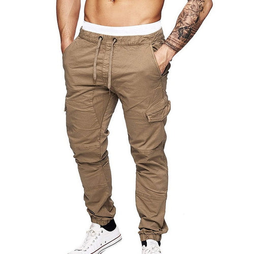 Men's Laid Back Multi-Pocket Cargo Pants w/ Drawstring
