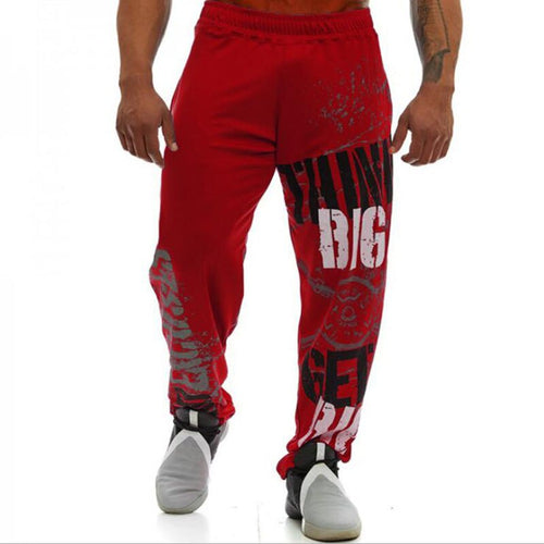 Men's 'Think Big Get Big' Gym Style Joggers