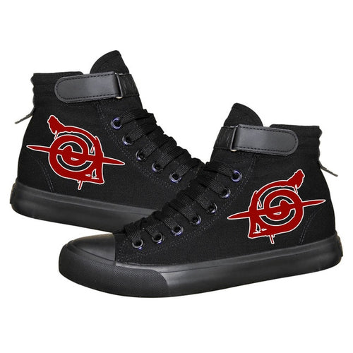 Men's NARUTO Style High Top Canvas Shoes