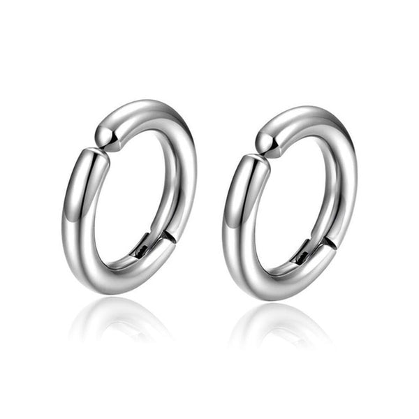 Men's Solid Circular Hooped Earring