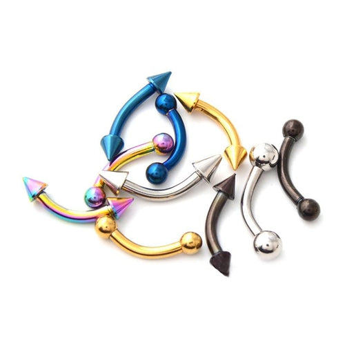 Men's 1 Piece Curved Barbell Eyebrow Piercing
