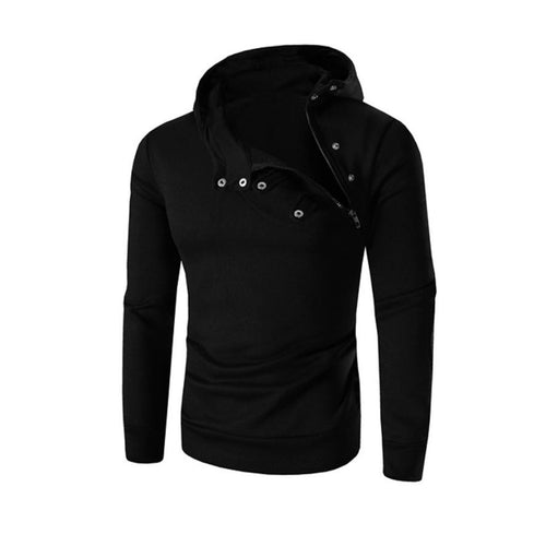 Men's Casual O-Neck Hoodie w/ Retro Zipper - Erbana 88