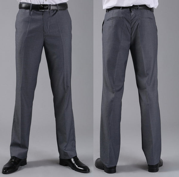 Men's Formal Anti-Wrinkle, Anti-Static Slim Fit Dress Pants