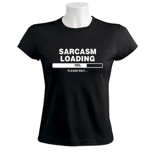 Women's Short Sleeve 'Sarcasm Loading' Humorous Tee