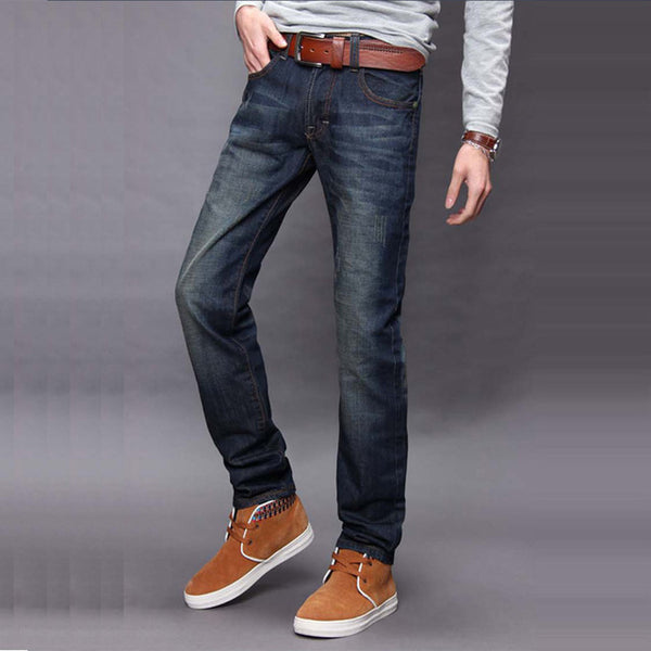 Men's Classic Straight Jeans Denim Jeans - Erbana 88
