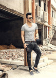 Men's Ultra Thin Slim Fit Tee w/ Bamboo Scoop Neckline
