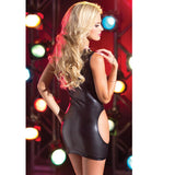 Women's Patent Leather Lingerie w/ Elastic Free Cut Out Mini Strapless Clubwear/Intimates - Erbana 88