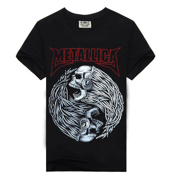 Men's Short Sleeve Metallica Tee w/ Skull Print