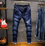 Men's Solid Wash Out Slim Fit Retro Denim Jeans - Erbana 88