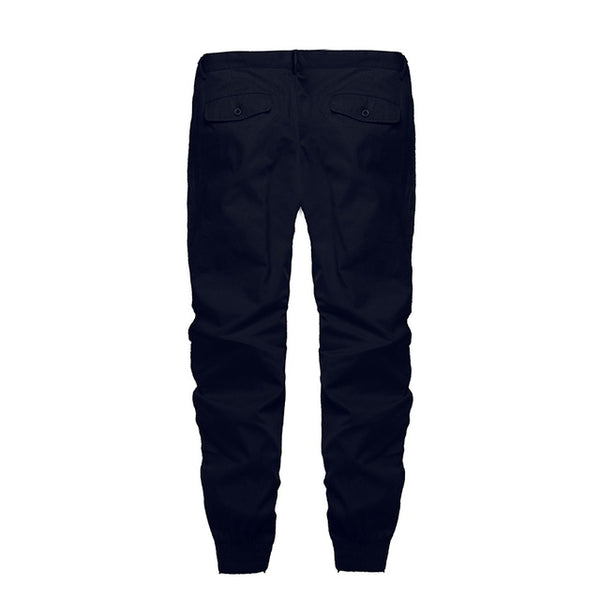 Men's Relaxed Fit Solid Joggers w/ Elastic Cuff