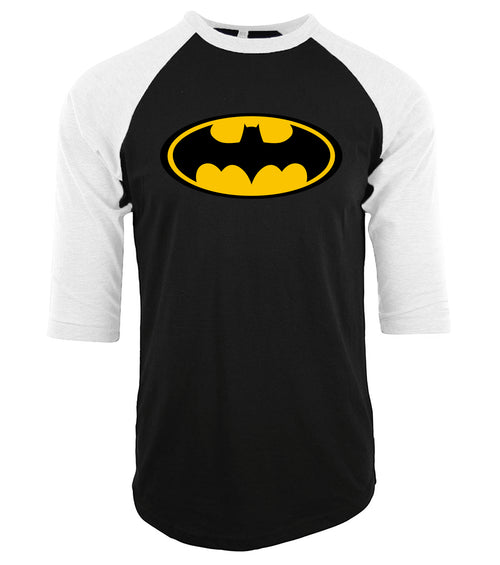 Men's Short Sleeve DC Comic Batman Three-Quarter Sleeve Tee - Erbana 88