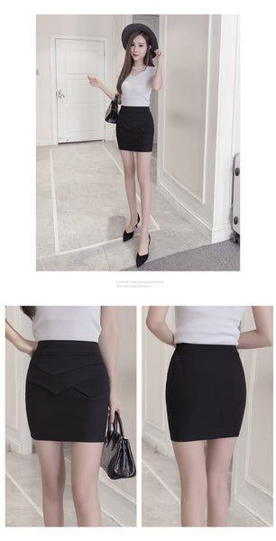 Women's High Waist Bandage Mini Skirt