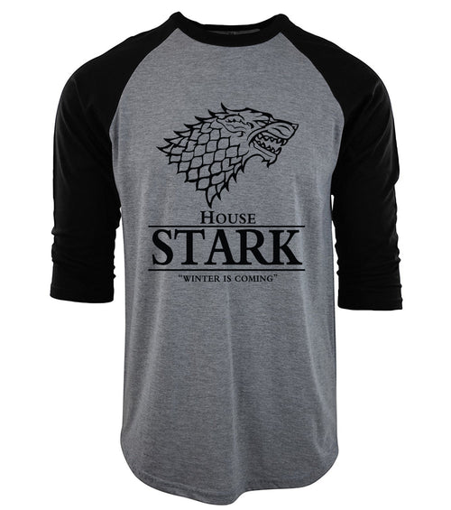 Men's Three-Quarter Raglan Sleeve Game of Thrones 'House of Stark' Tee - Erbana 88