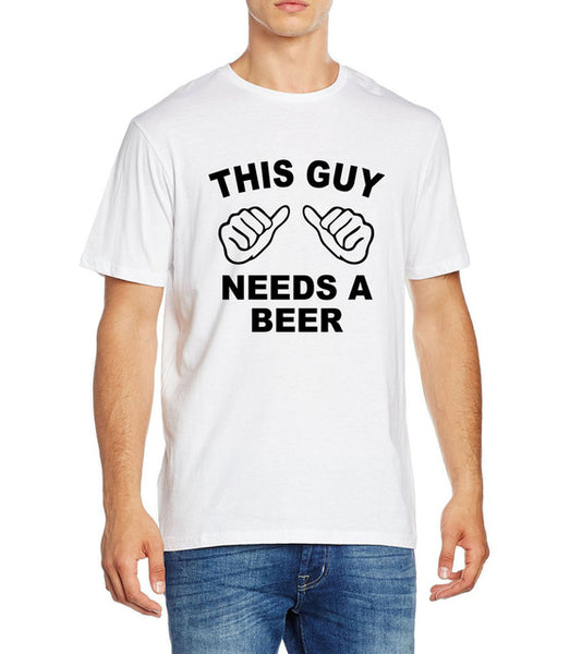 Men's Short Sleeve Novelty 'This Guy Needs...' Tee - Erbana 88
