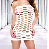 White Mini Bodycon Hollow Out Lingerie - Erbana 88