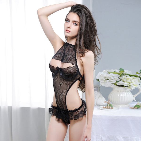 One Piece Halter Style Lace Lingerie - Erbana 88
