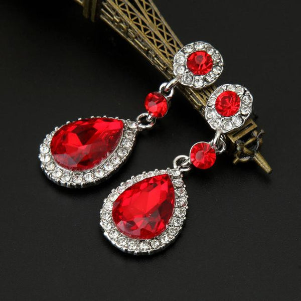 Wedding Jewelry Rhinestone Style Earrings For Women - Erbana 88