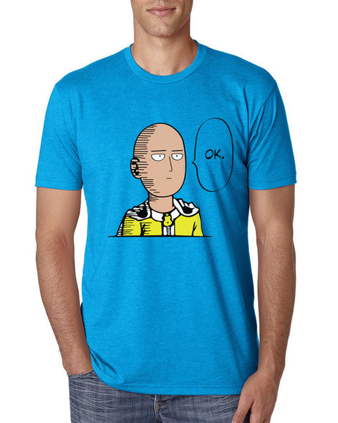 Men's Short Sleeve Humorous 'Saitama One Punch Man' Tee - Erbana 88