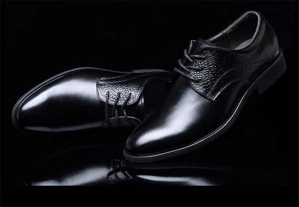 Men's Elegant British Style Four Seasons Pointed Toe Formal Shoes