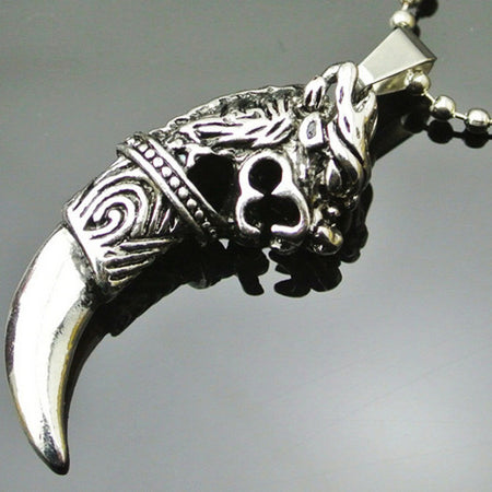 Men's Vintage Ceramic Skull & Snake Mayan Design Pendant Only