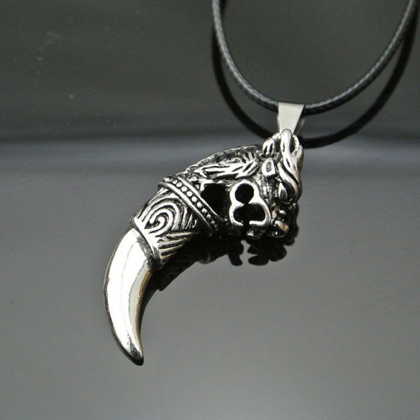 Men's Classic Fashion Wolf Tooth Pendant Necklace - Erbana 88