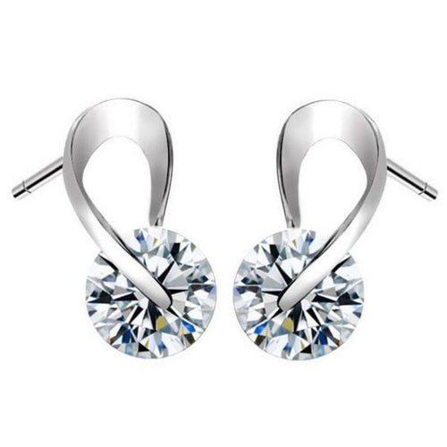Women's Crystal Rhinestone Pearl Earrings - Erbana 88