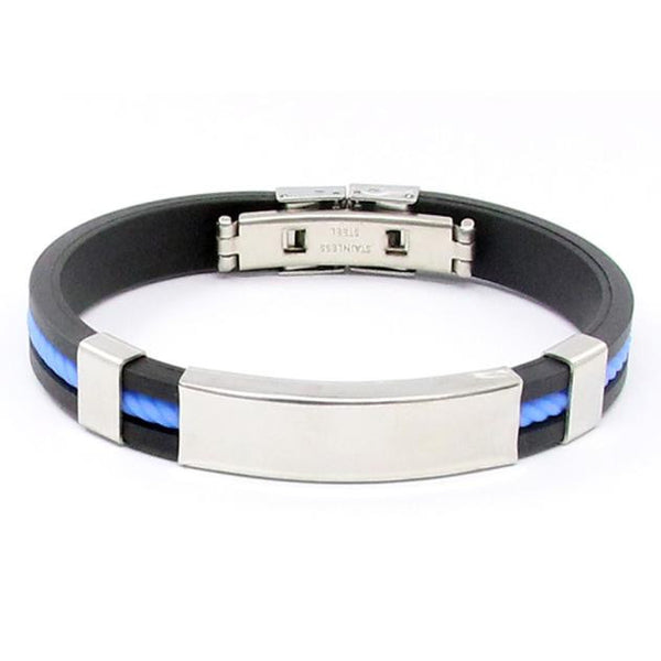 Fashion Mens Jewelry Bracelet Stainless Steel Cuff Bangle CO - Erbana 88