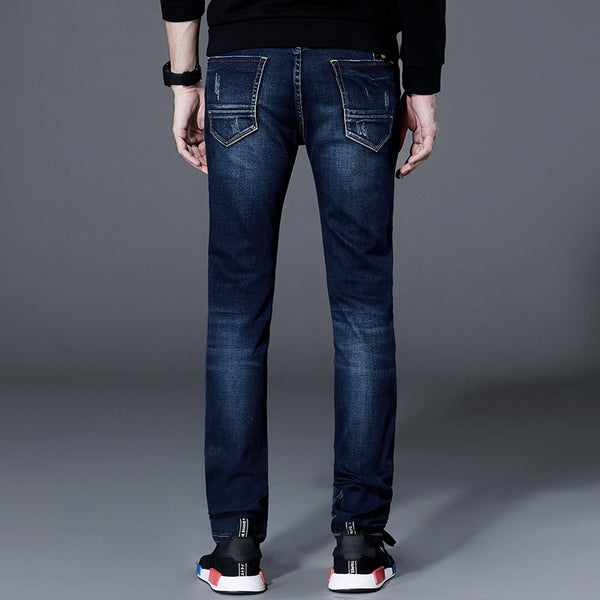 Men's High Elasticity Casual Slim Straight Jeans - Erbana 88