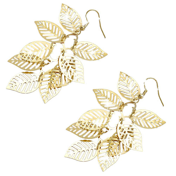 Women's Vintage Retro Bohemian Tassel Leaf Earrings - Erbana 88