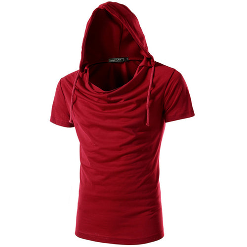 TUNEVUSE Brand Breathable Casual Slim Fit Short Sleeve Cotton & Polyester Hoodie - Erbana 88