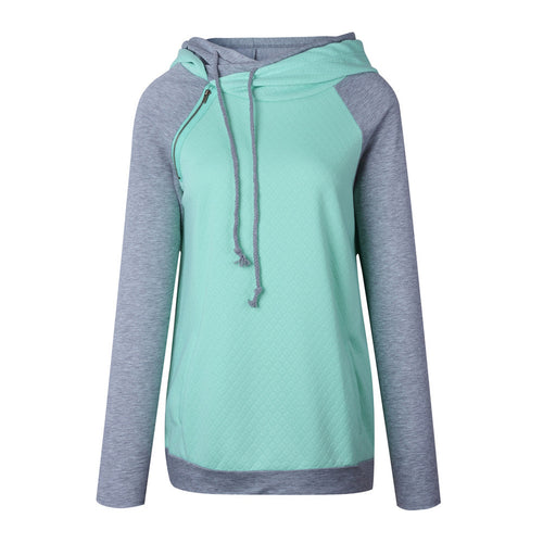 Women's Funnel Tunic w/ Zipper, Long Sleeve Hoodie