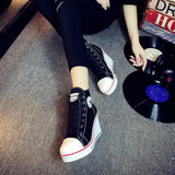 Women's Converse Style Shoes w/ Platform Wedge