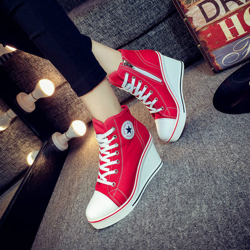 Women's Converse Style Shoes w/ Platform Wedge - Erbana 88
