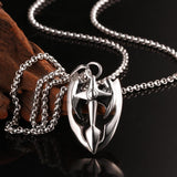 Men's Stainless Steel Ultram Cross Pendant Bijoux Necklace - Erbana 88