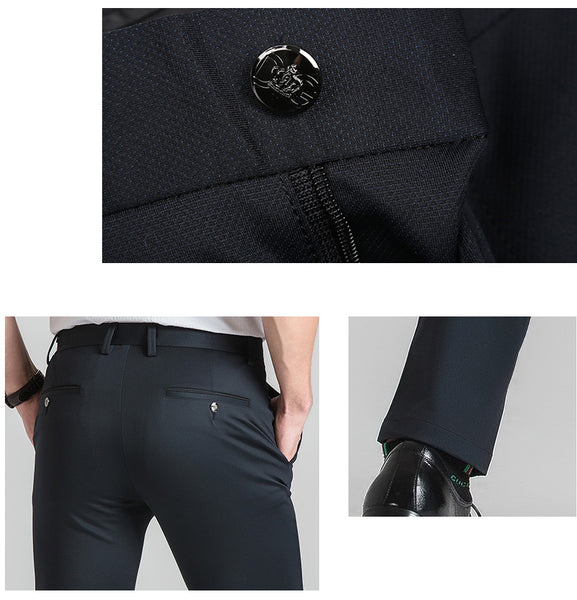 Men's Stretched Straight Leg Wrinkle-Free Dress Pants