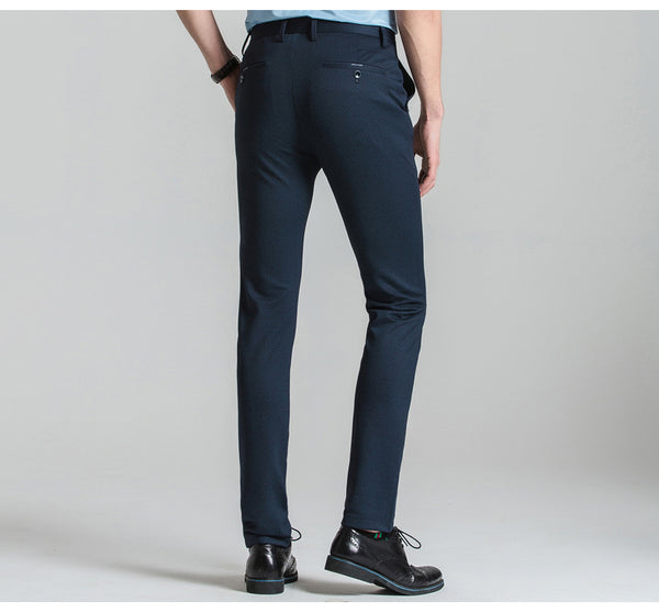 Men's Wrinkle-Free Full Fit Stretched Dress Pants