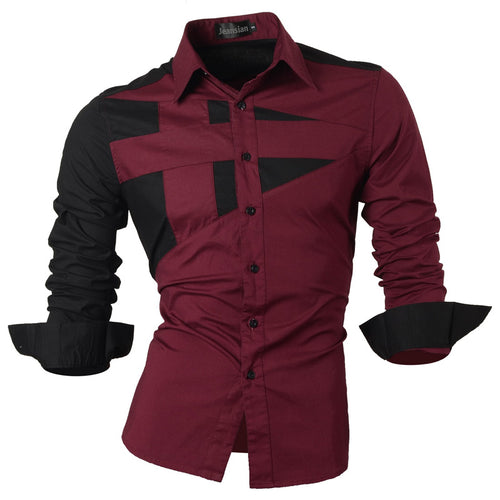 Men's Assorted Style Long Sleeve Casual Slim Fit Shirt - Erbana 88