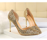 Women's Elegant Assorted Shallow Mouth Stilettos w/ Sequin Finish - Erbana 88