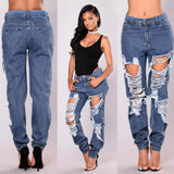 Women's Skinny High Waist Ripped Denim Jeans - Erbana 88