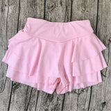 Women's Elegant High Waist Pleated Mini Skirt w/ Frill & Ruffle Finish - Erbana 88