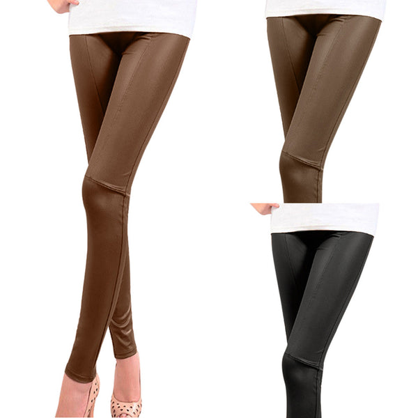 Stretchy Skinny High Waist Patchwork Design Leggings - Erbana 88