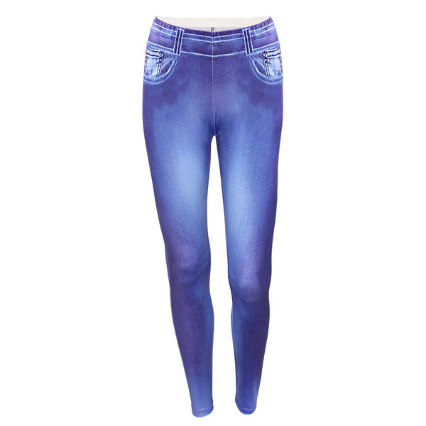 Women's Slim Fit Elastic Vintage Leggings - Erbana 88