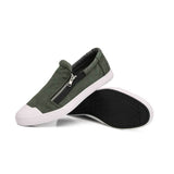 Men's Urban Skater Style Wear Resistant Loafers w/ Side Zipper