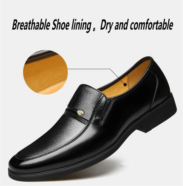 Men's Business Style Shock Absorbent Microfiber Leather Shoes - Erbana 88