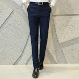 Men's Flat Front Formal Dress Pants w/ Button Fly