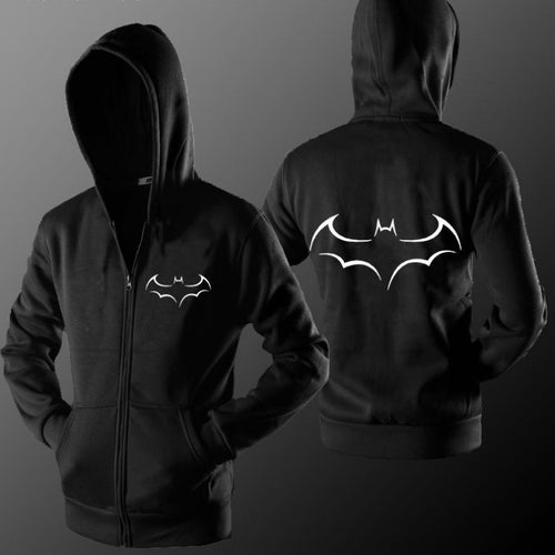 Men's Assorted Microfiber Fleece Zip Down Batman Hoodie - Erbana 88